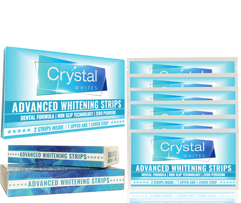 ADVANCED HOME TEETH WHITENING STRIPS 6 WEEK COURSE FOR ADVANCED WHITENING