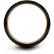 Black & 18k rose gold bevel ring 8mm