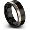 Black & 18k rose gold flat ring 8mm - Charming Jewelers