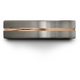 Black & 18k rose gold flat ring 6mm
