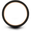 Black & 18k rose gold flat ring 12mm - Charming Jewelers