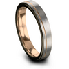 Black & 18k rose gold flat ring 4mm - Charming Jewelers