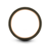 Gunmetal & 18K Rose Gold Flat Ring 6mm - Charming Jewelers