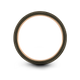 Gunmetal & 18K Rose Gold Flat Ring 8mm