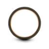 Gunmetal & 18K Rose Gold Flat Ring 12mm - Charming Jewelers