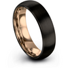 Black & 18k rose gold dome ring 6mm - Charming Jewelers