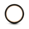 Gunmetal & 18K Rose Gold Dome Ring 4mm - Charming Jewelers