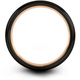Black & 18k rose gold dome ring 6mm