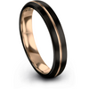 Black & 18k rose gold dome ring 4mm - Charming Jewelers