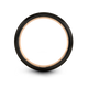 Gunmetal & 18K Rose Gold Flat Ring 12mm