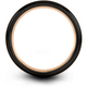 Black & 18k rose gold dome ring 8mm