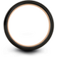 Black & 18k rose gold step edge ring 8mm