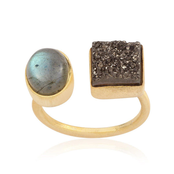 Hidden Treasure Labra Druzy Ring - Euro Sparkles
