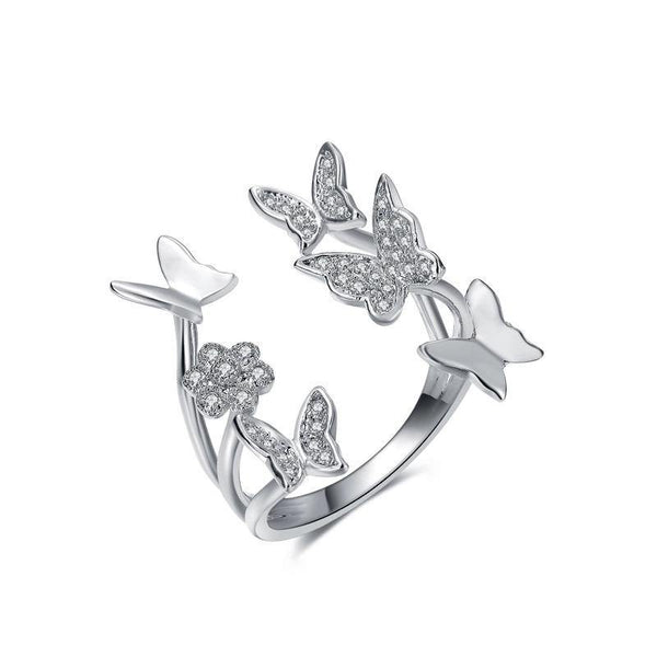 Elegancia Butterfly Ring - Euro Sparkles