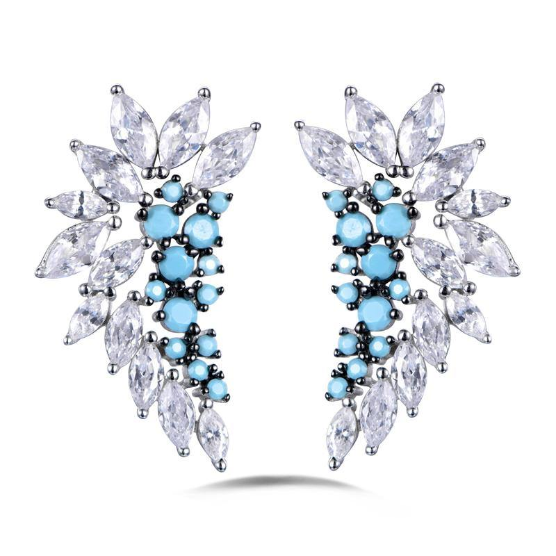 Azure Royal Earrings - Euro Sparkles