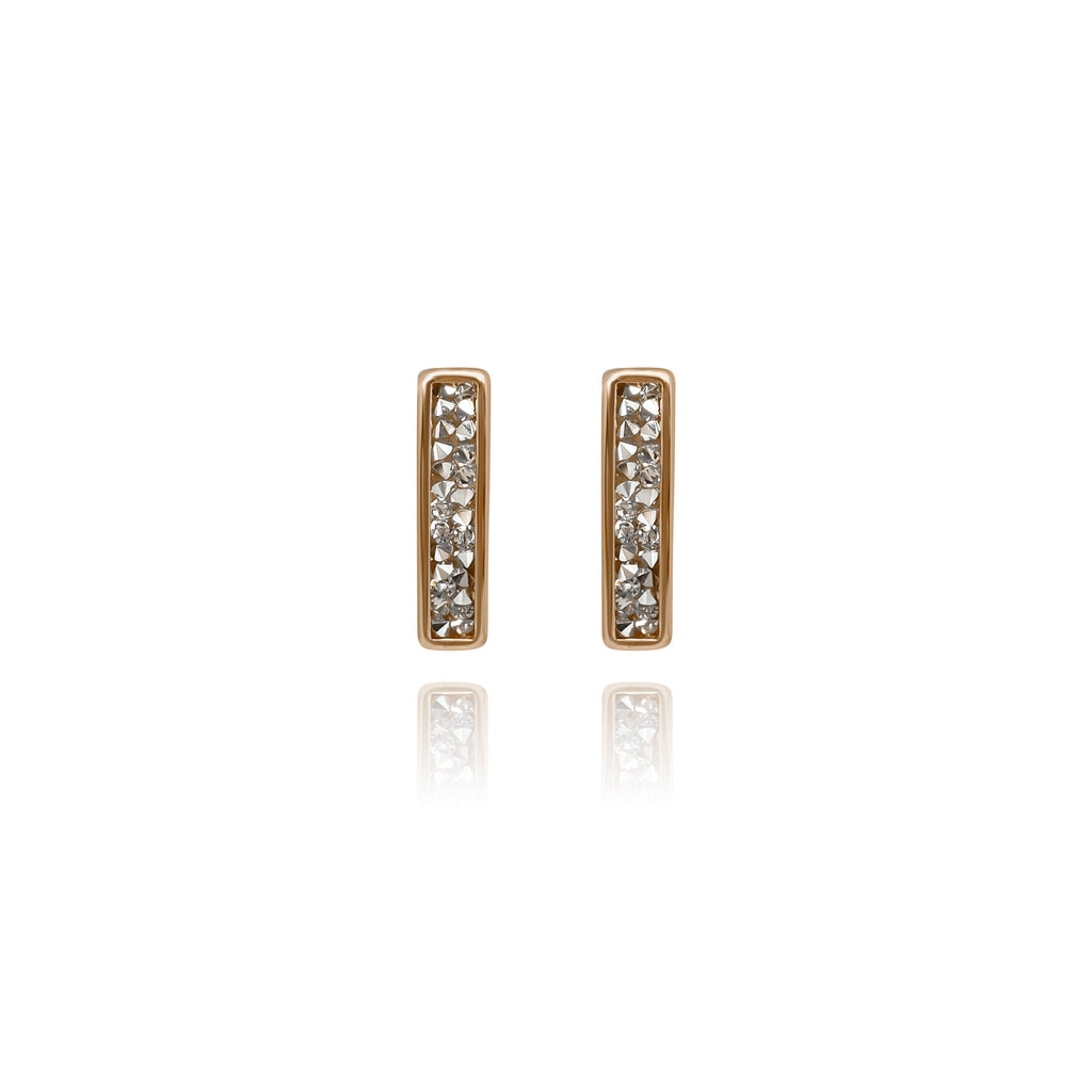 Eclat White Long Stud Earrings