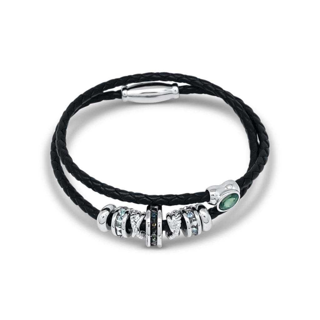 Eclat Galaxy Druzy wheel Double Leather Bracelet