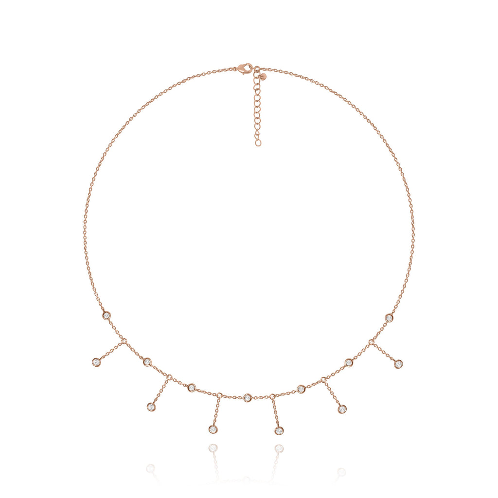 Les Lia Waterfall Choker Necklace - Euro Sparkles