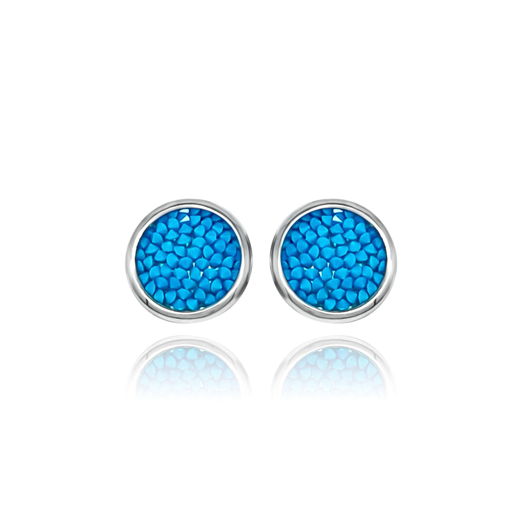Eclat Turquoise Blue Earrings - Euro Sparkles