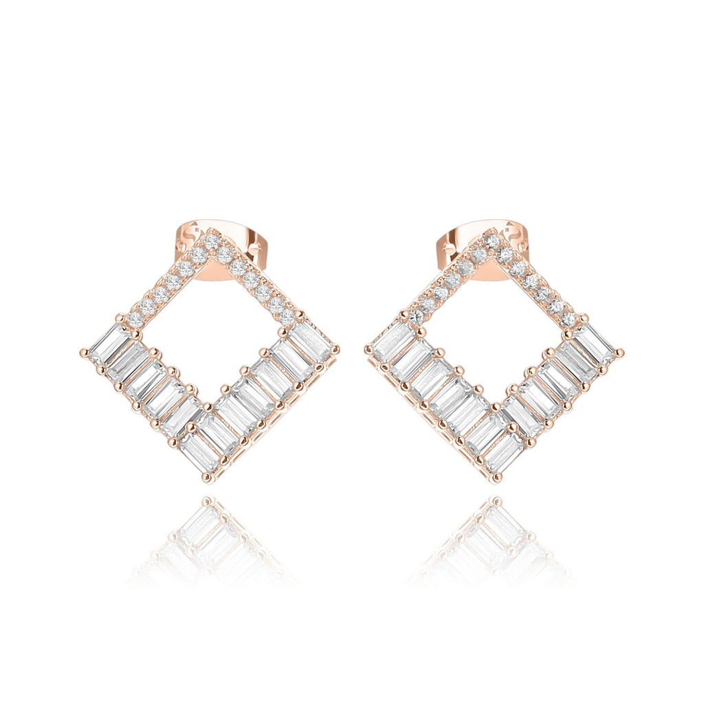 Elegancia Square Earrings - Euro Sparkles