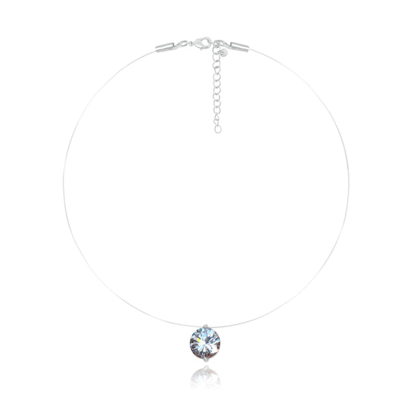 Marbella Clear Crystal Necklace - Euro Sparkles