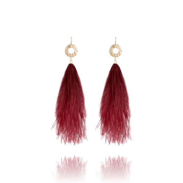St. Tropez Feather Earrings - Euro Sparkles