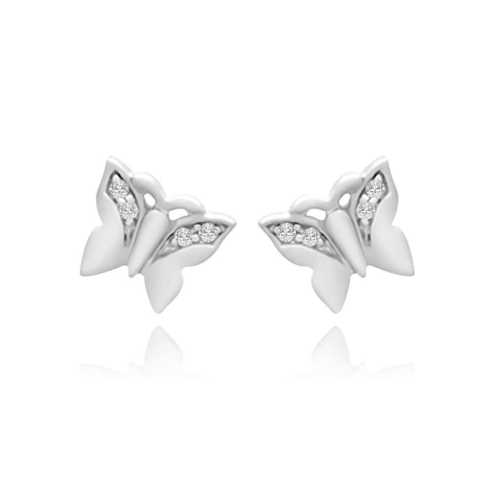 CC Baby Dancing Butterfly Stud Earrings - Euro Sparkles