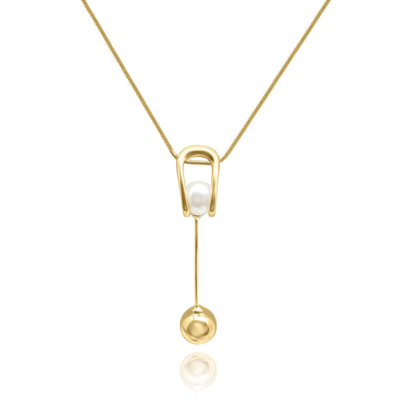 Firenze Pearl Ball Necklace - Euro Sparkles