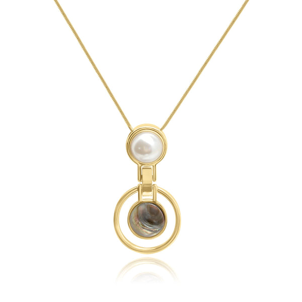 Firenze Pearl Universe MOP Necklace - Euro Sparkles