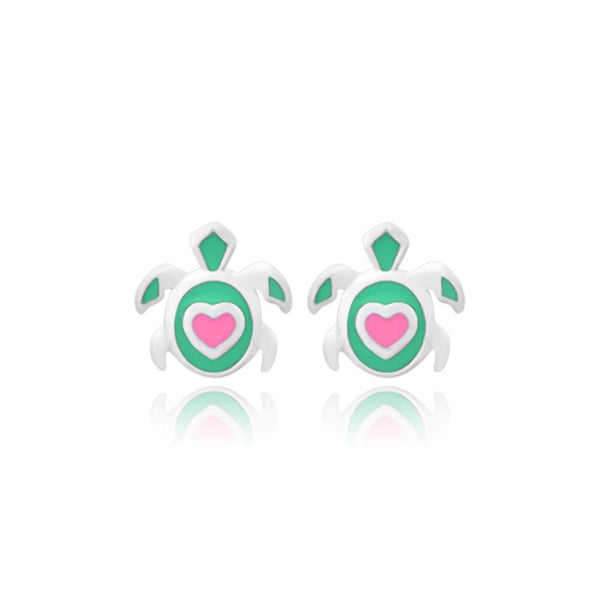 CC Baby Fortunate Turtles Stud Earrings - Euro Sparkles