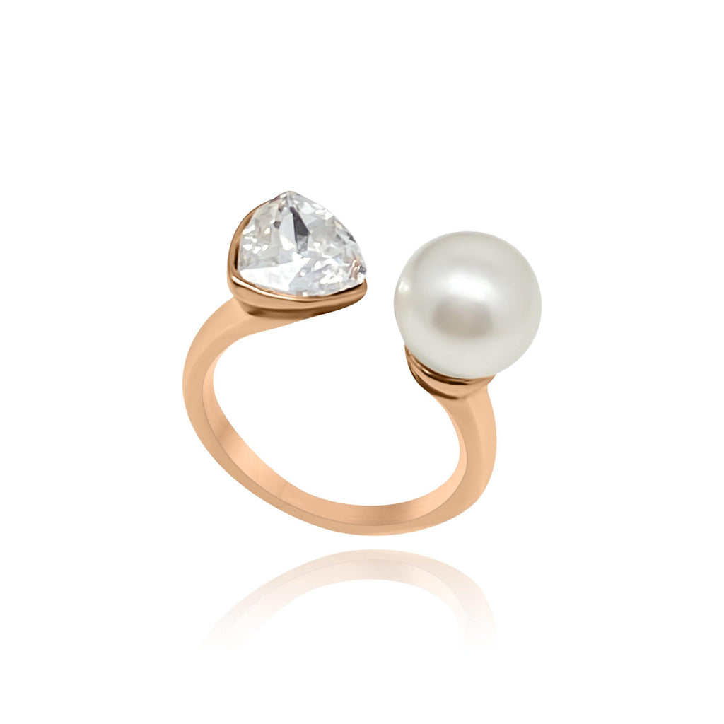 Firenze Ocean Rose Pearl Ring