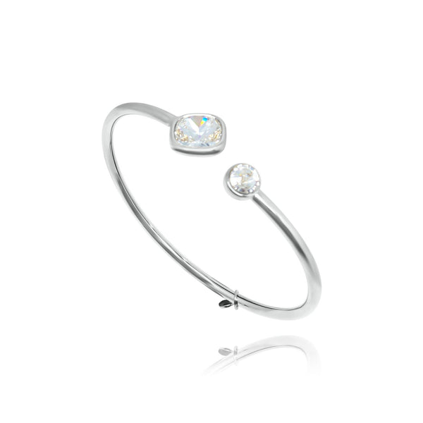 Marbella Square Open Bangle - Euro Sparkles