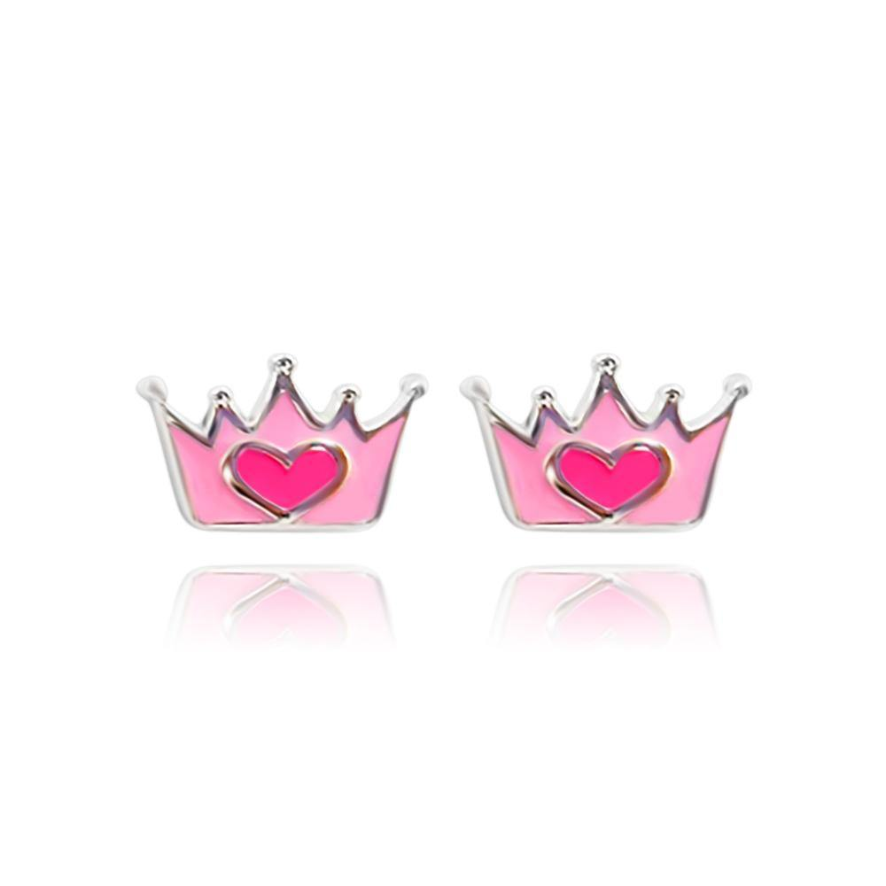 Baby Princess crown Stud Earrings