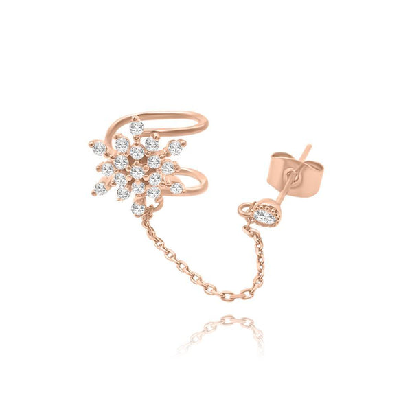 Les Lia rose stud ear Cuff