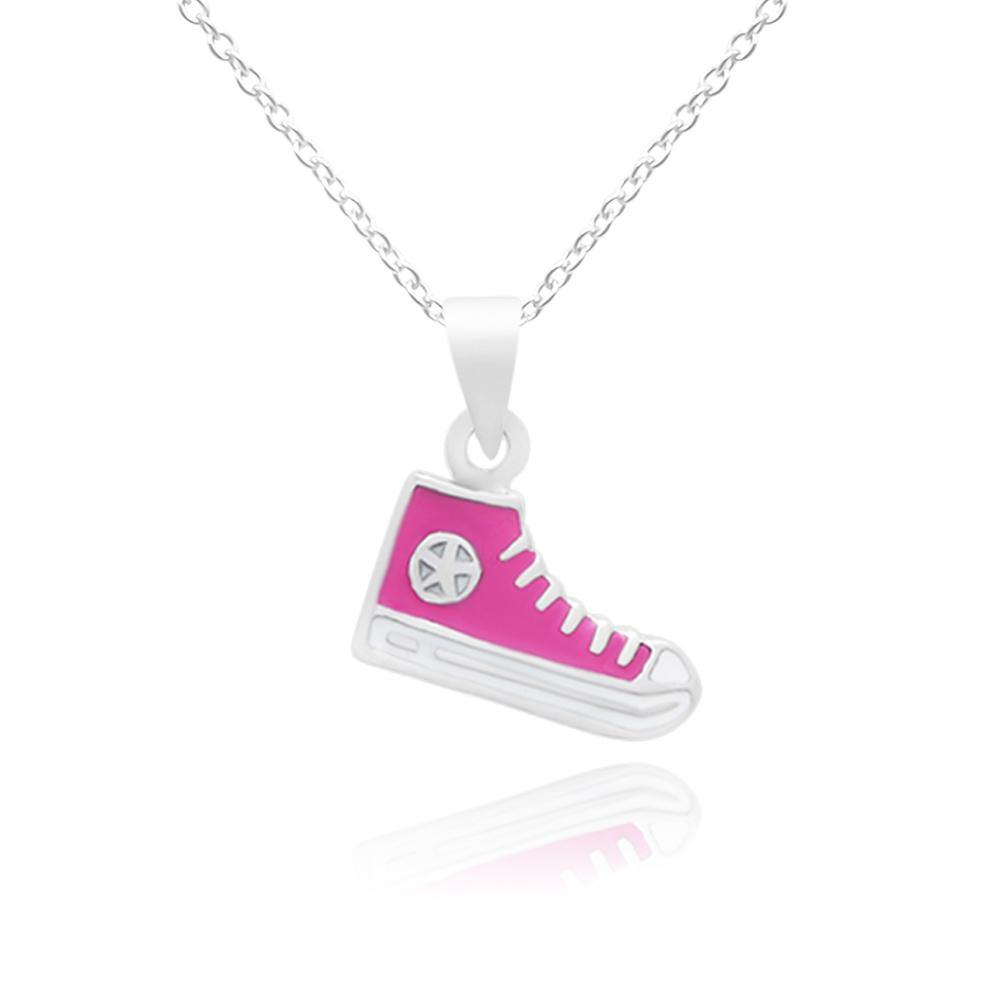 CC Trendy Pink Baby Shoes Necklace - Euro Sparkles