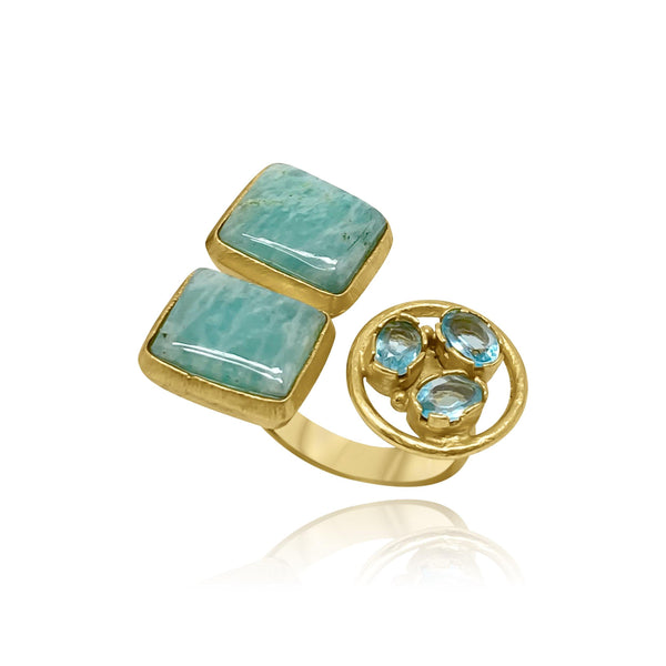 Hidden Treasure Aven. Aqua Ring - Euro Sparkles