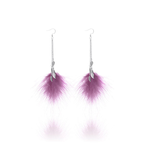 St. Tropez Feather Tassel Earrings - Euro Sparkles