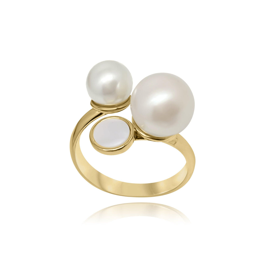 Firenze Triple Pearl Ring - Euro Sparkles