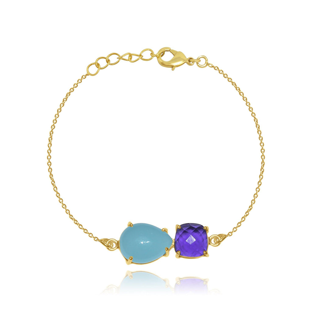 Hidden Treasure Aqua Amy Bracelet - Euro Sparkles
