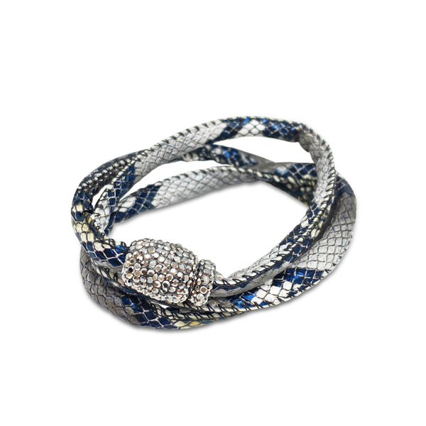 Hidden Treasure Snake Leather Bracelet - Euro Sparkles