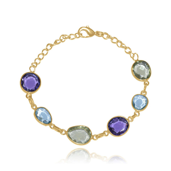 Hidden Treasure Aqua Amy Citrine Bracelet - Euro Sparkles