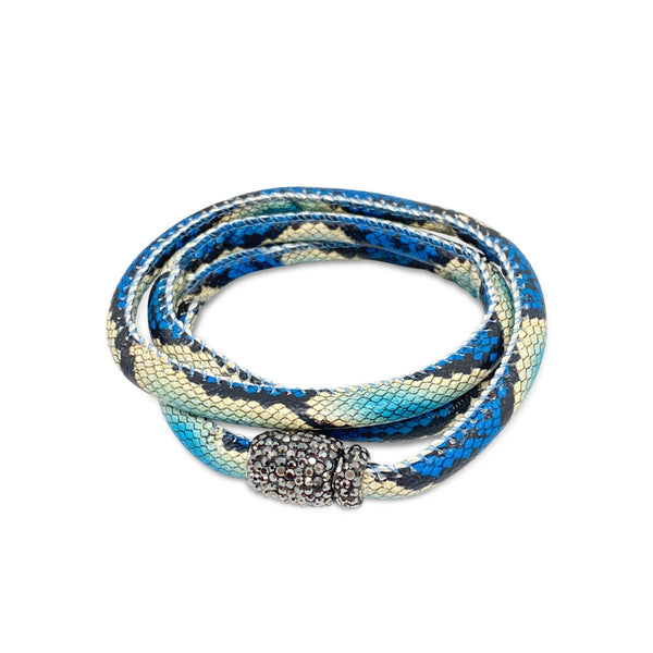 Hidden Treasure Snake Leather Bracelet