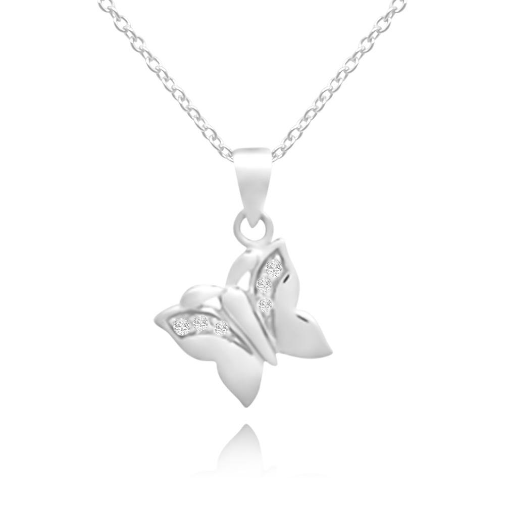 CC Baby Dancing Butterfly Necklace - Euro Sparkles