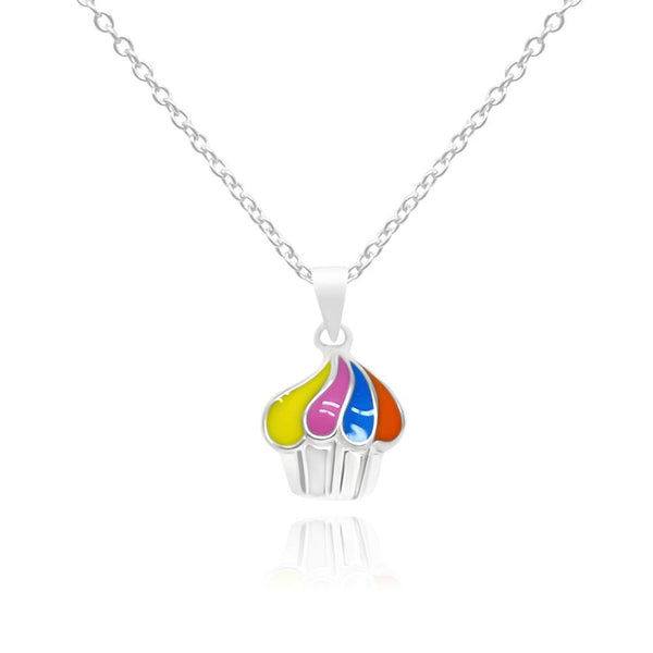 CC Baby Colorful Cupcake Necklace - Euro Sparkles
