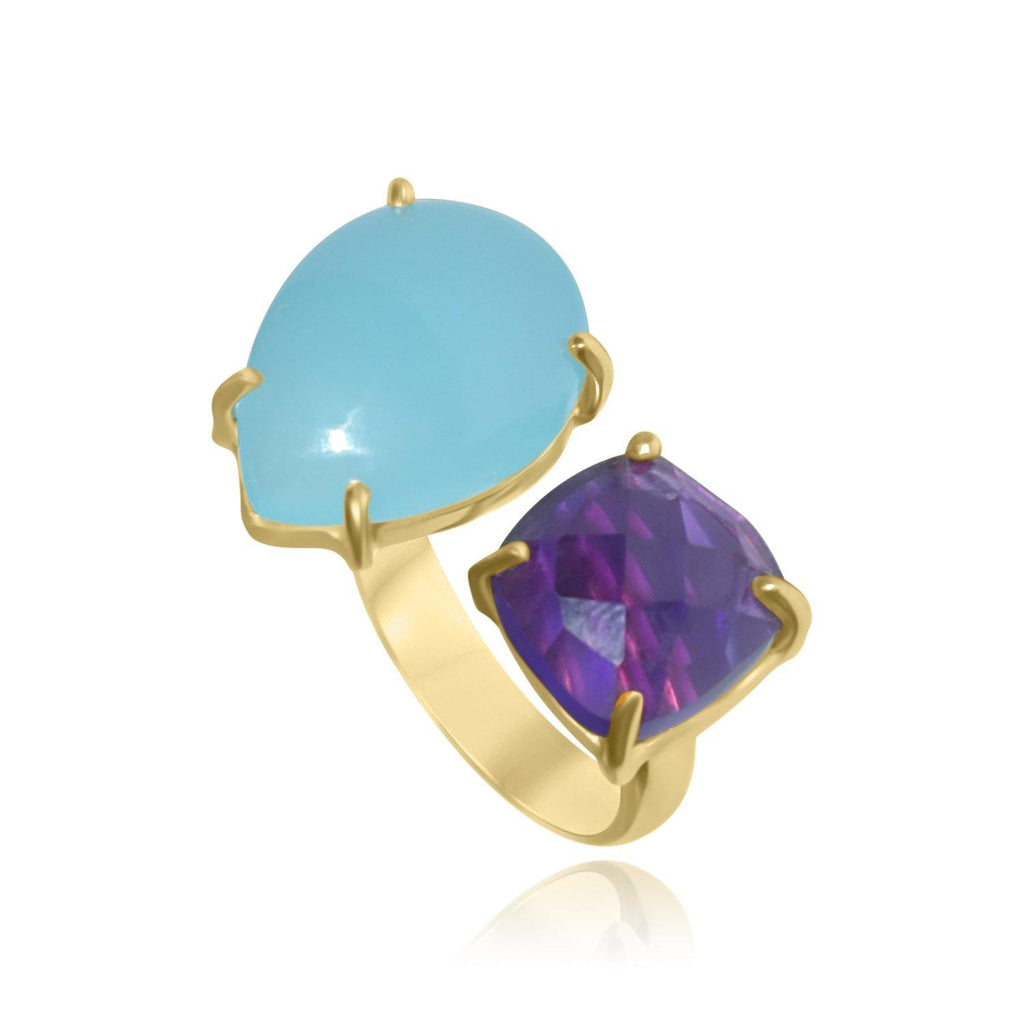 Hidden Treasure Aqua Amy Ring - Euro Sparkles