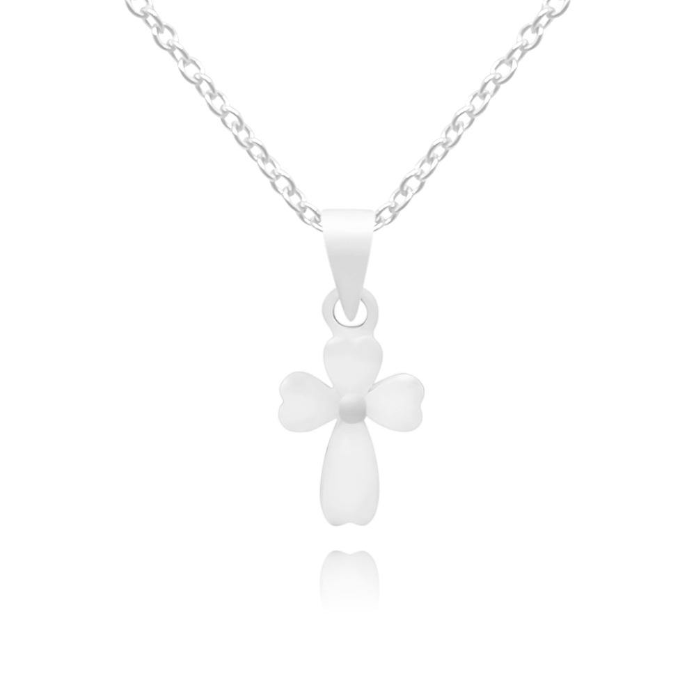 CC Baby White Cross Necklace