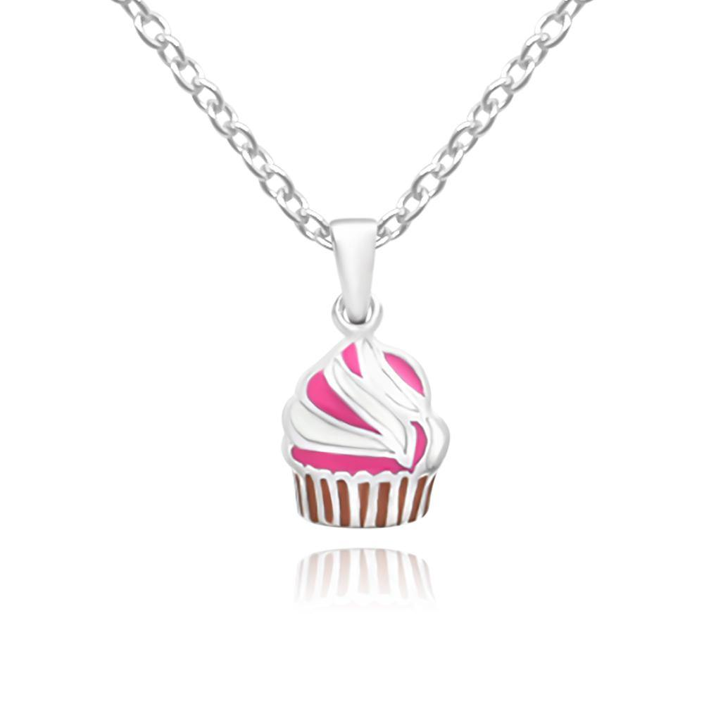 Baby Pink Cupcake Necklace - Euro Sparkles