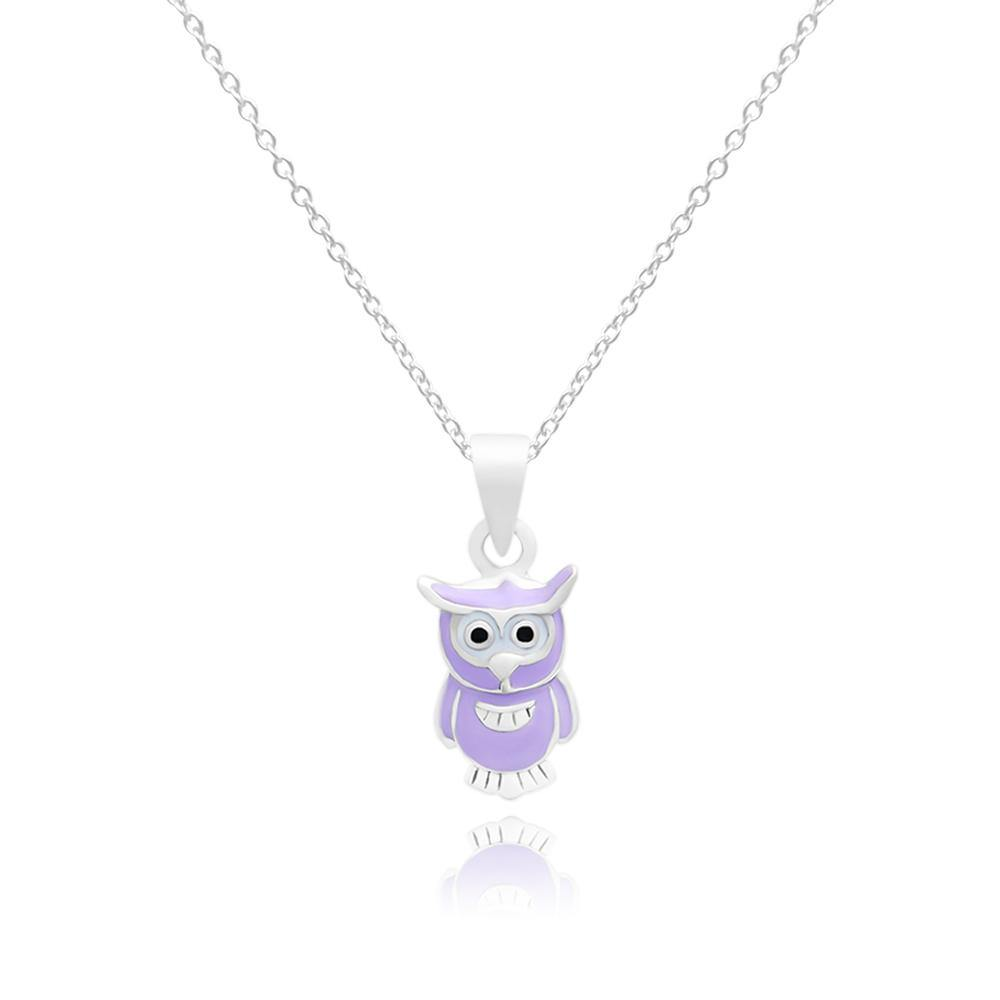 CC Purple Baby Owl Necklace - Euro Sparkles