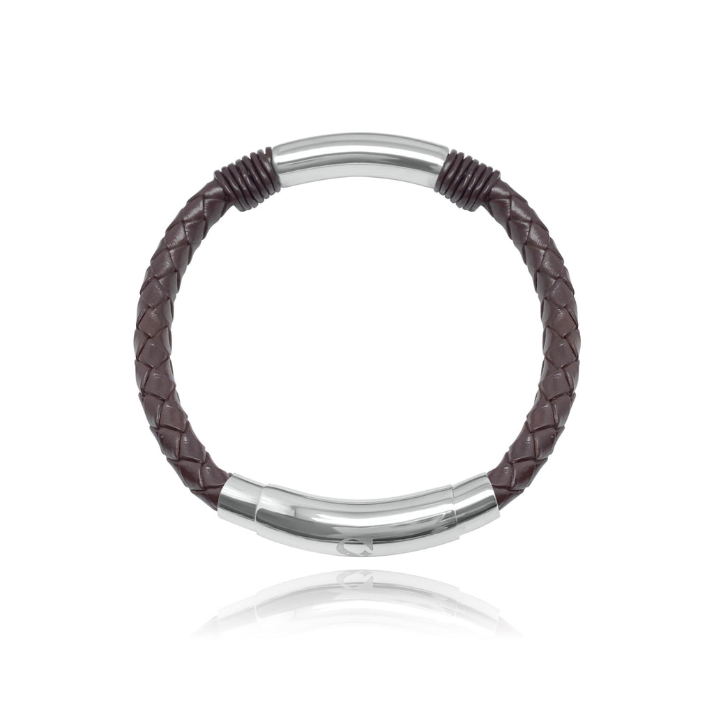 The Yahya Brown Leather Men Bracelet