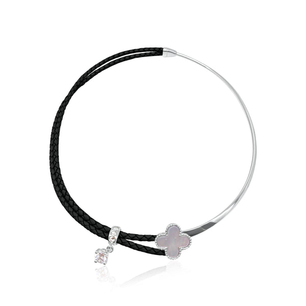 Marbella Lotus Leather Choker - Euro Sparkles